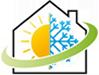 Sun/Snowflake house icon