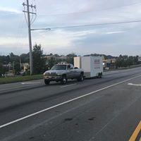 truck pulling trailer