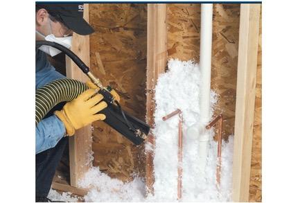 wall fiberglass blown insulation