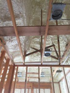 ceiling spray foam insulation