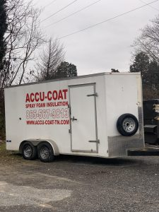 Accu-Coat Spray Foam Insulation trailer